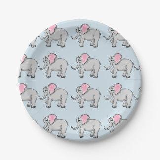 Elefant-PapierTeller Pappteller