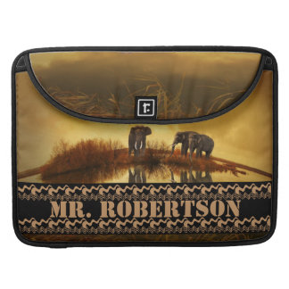 Elefant-personifizieren Tierafrika-Muster Sleeves Für MacBook Pro