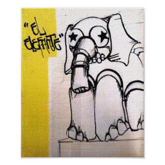 Elefant Poe DIS Plakate