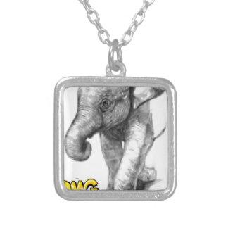 Elefant-Pose Versilberte Kette