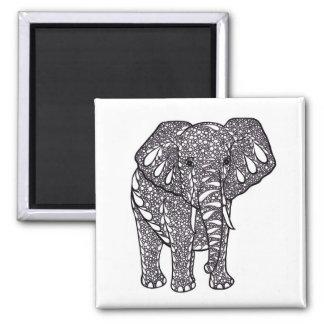 Elefant Quadratischer Magnet