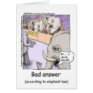 Elefant-Rechtsanwalt-kardiert lustige Karte