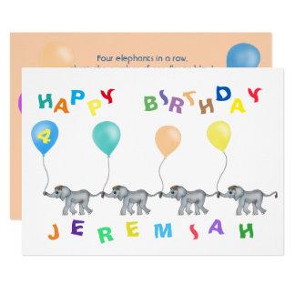 Elefant-Reihe durch Happy Juul Company 12,7 X 17,8 Cm Einladungskarte