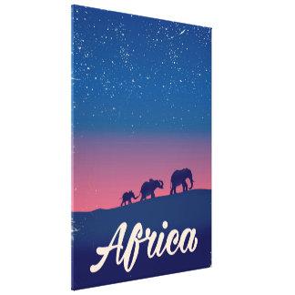 Elefant-Reiseplakat Afrikas Vintages Leinwanddruck