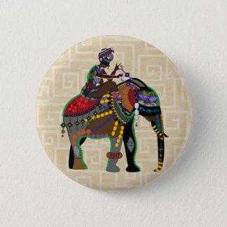 Elefant-Reiter Runder Button 5,7 Cm