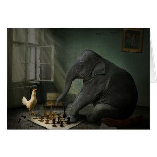 Elefant-Schach-Gruß-Karte Grußkarte