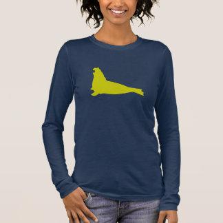 Elefant-Siegel-Shirt-Avocado Langarm T-Shirt