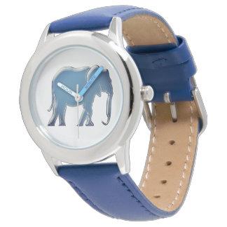 Elefant Sihouette minimales modernes elegantes Armbanduhr