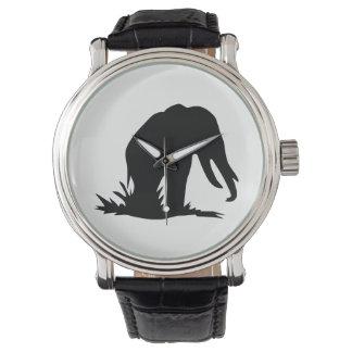 Elefant-Silhouette Uhr