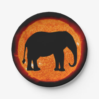 Elefant-Sonnenfinsternis Pappteller