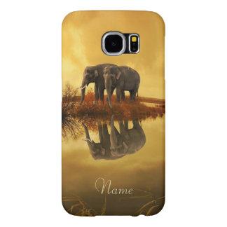 Elefant-Sonnenuntergang