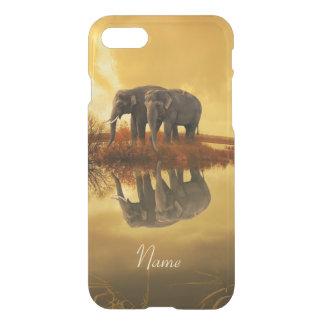 Elefant-Sonnenuntergang iPhone 8/7 Hülle