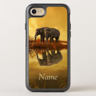 Elefant-Sonnenuntergang OtterBox Symmetry iPhone 8/7 Hülle