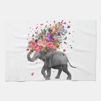 Elefant-Spritzen Geschirrtuch
