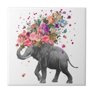 Elefant-Spritzen-Keramik-Foto-Fliese Fliese