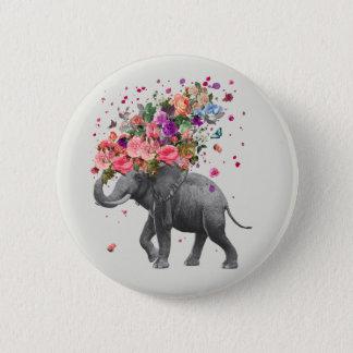 Elefant-Spritzen Runder Button 5,1 Cm