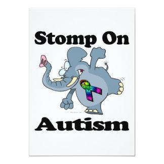 Elefant stampfen auf Autismus-Bewusstseins-Entwurf 12,7 X 17,8 Cm Einladungskarte