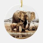 Elefant-u. Baby-Elefant-Weihnachtsverzierung Weinachtsornamente