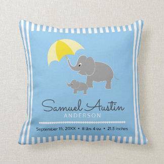 Elefant-u. Baby-u. Regenschirm-Baby-Mitteilung Kissen