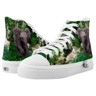 Elefant und Dschungel Hoch-geschnittene Sneaker
