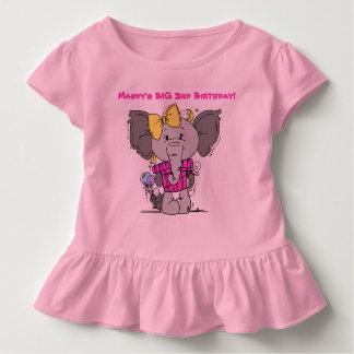 Elefant-und Geschenk-Geburtstags-Gewohnheits-T - Kleinkind T-shirt