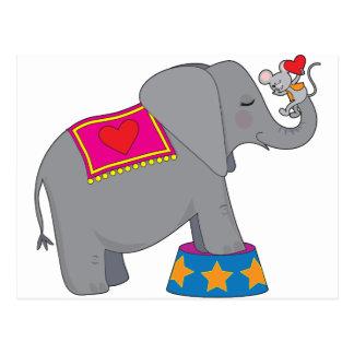 Elefant und Maus Postkarte