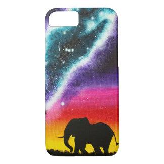 Elefant und Milchstraße - kundenspezifischer iPhone 8/7 Hülle