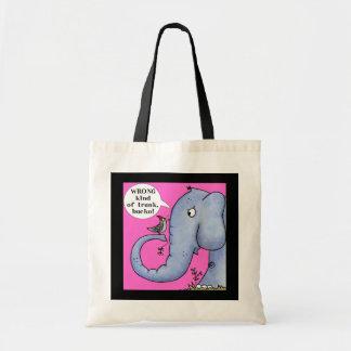 Elefant-und Specht-Missverständnis Tragetasche