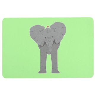 Elefant und Vogel Bodenmatte
