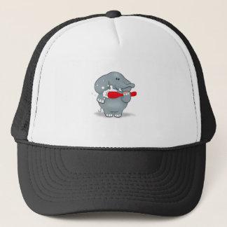 Elefant und Zahnbürste Truckerkappe