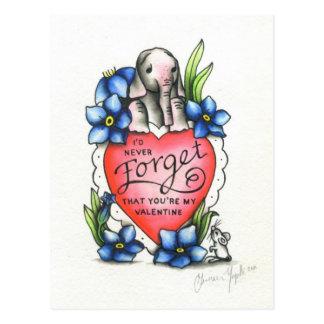 Elefant-Valentinsgruß Postkarte