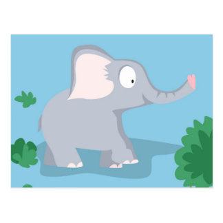 Elefant von meinem Welttiere serie Postkarten