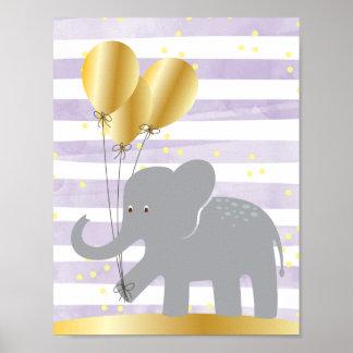 Elefant-Wand-Kunst Poster