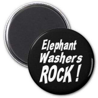 Elefant-Waschmaschinen-Felsen! Magnet Runder Magnet 5,1 Cm
