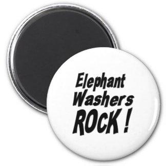 Elefant-Waschmaschinen-Felsen! Magnet Runder Magnet 5,7 Cm