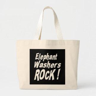 Elefant-Waschmaschinen-Felsen! Taschen-Tasche Jumbo Stoffbeutel