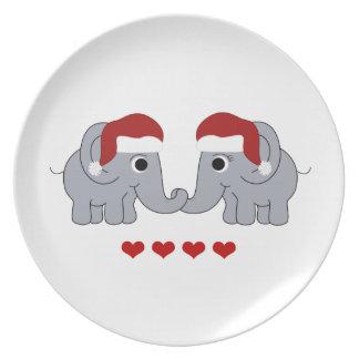 Elefant-Weihnachten Melaminteller