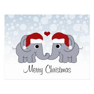 Elefant-Weihnachten Postkarte
