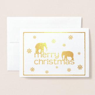 Elefant-Weihnachtskarte Folienkarte