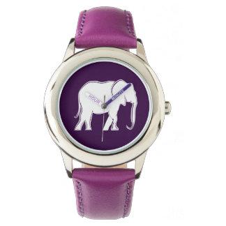 Elefant-weiße Silhouette-elegantes minimales Uhr