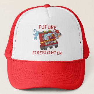 Elefant-zukünftige Feuerwehrmann-T - Shirts und Truckerkappe