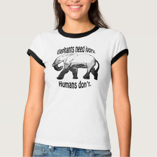 Elefantbedarf Elfenbein T-Shirt
