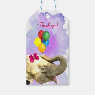 Elefantdschungel-süßes Tier Watercolor danken Geschenkanhänger