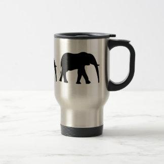 Elefanten auf Parade Reisebecher