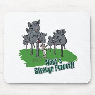 Elefanten erschraken Mäusevom lustigen Waldvektorw Mauspads