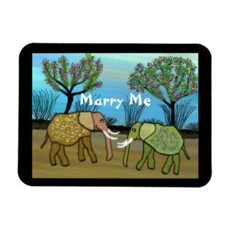 Elefanten heiraten mich Magnet