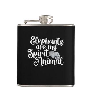 Elefanten sind mein Geisttier Flachmann