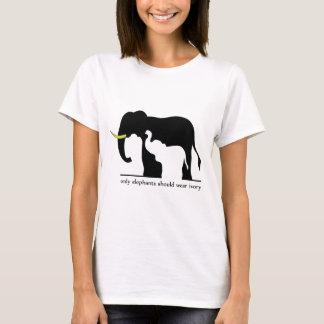 Elefanten und Elfenbein (weiß) T-Shirt