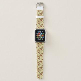 Elefanten und Palmen in der Tarnung Apple Watch Armband