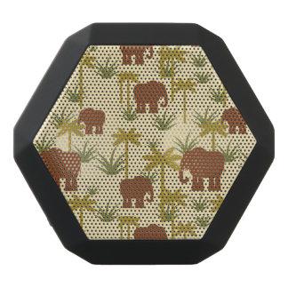 Elefanten und Palmen in der Tarnung Schwarze Bluetooth Lautsprecher
